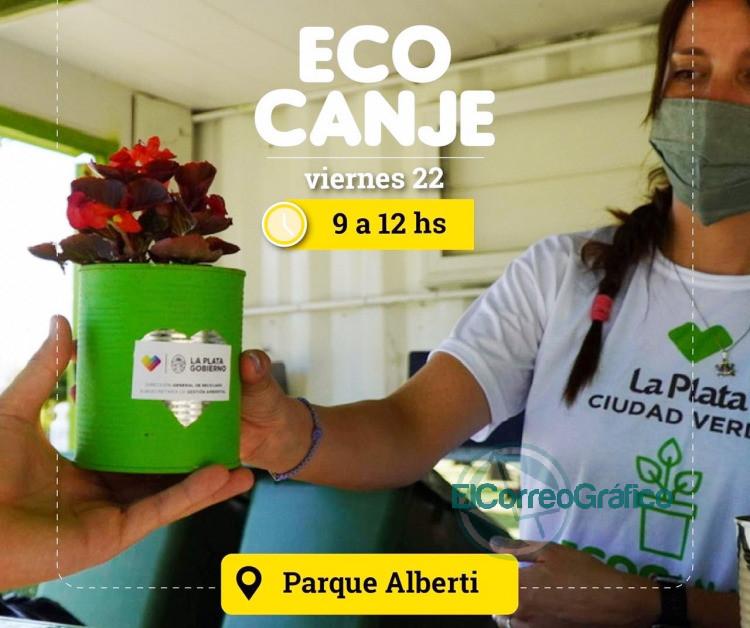 Nueva jornada de Eco Canje en Parque Alberti