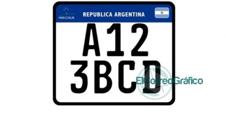 Patente Moto ARG Mercosur