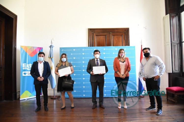 Rconocimiento de trabjaos entre el municipio y el Consulado de Paraguay durante el ASPO