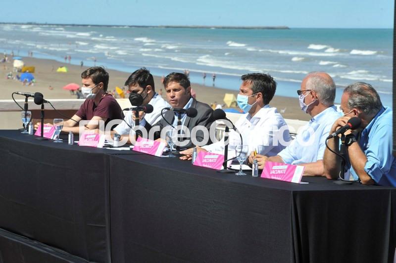 Axel Kicillof en Necochea Prensa info Edidemiologico PBA 6