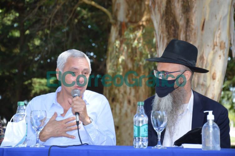 Cagliardi recibio al rabino Tuvia Serber