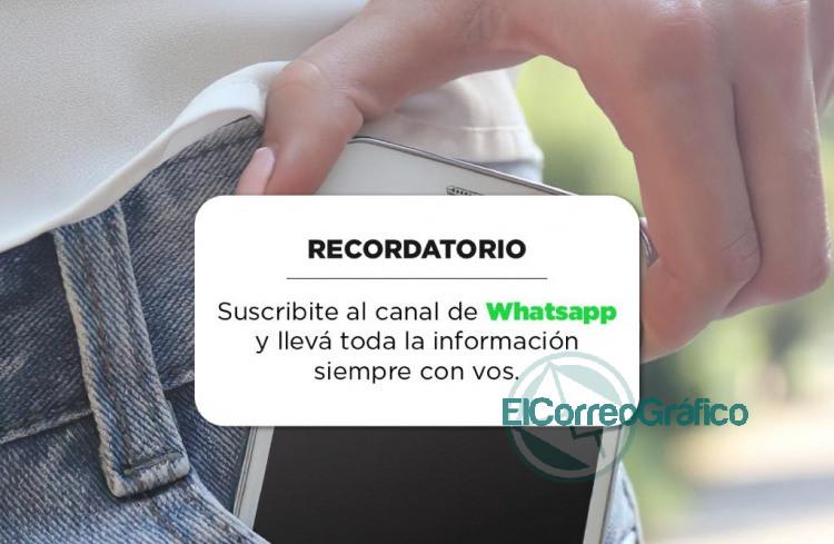 Canal de WhatsApp del Municipio de La Plata para recibir informacion sobre COVID 19