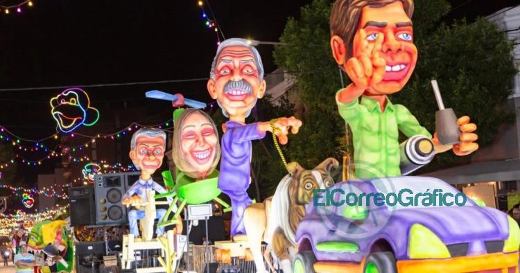 Carnaval de Lincoln carroza Kicillof AF Vidal y Macri