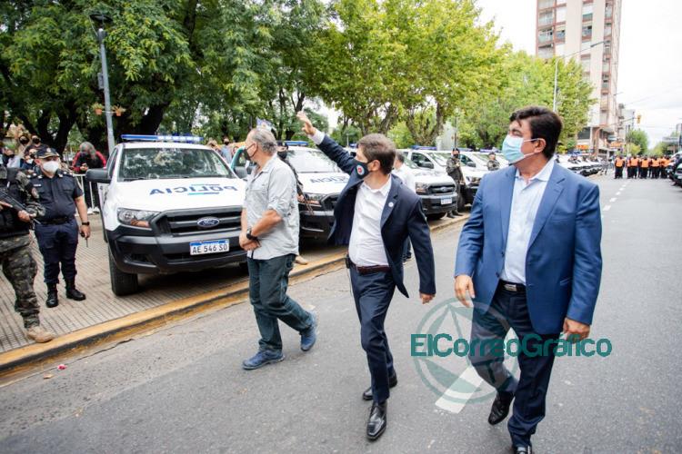 Kicillof Berni y Espinoza pusieron en marcha nuevos patrulleros para La Matanza 2