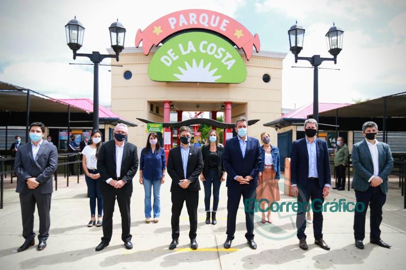 Kicillof participo del acto de reapertura del Parque de la Costa 2