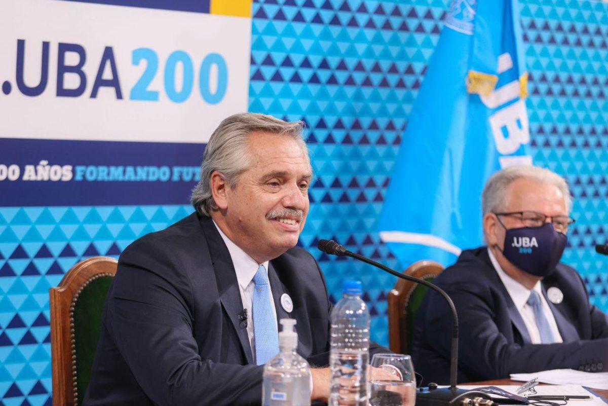 Bicentenario de la Universidad de Buenos Aires La UBA es igualdad dijo Fernandez 1