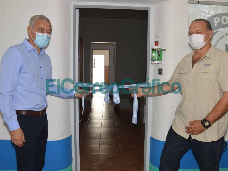 Cagliardi con Berni inauguraron la delegacion Berisso La Plata de la Policia Ecologica 6
