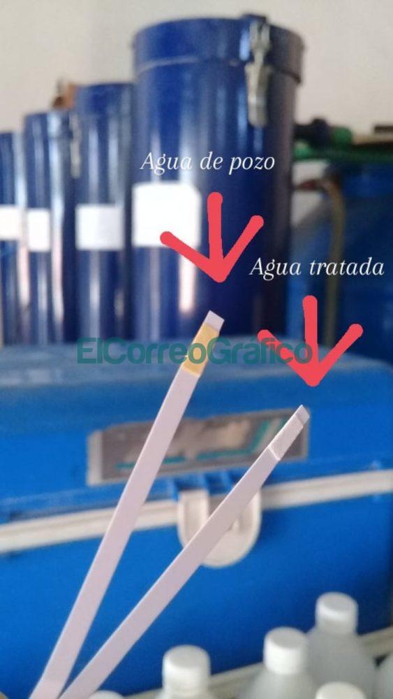 Contenido de arsenico en agua antes y despues del proceso de tratamiento