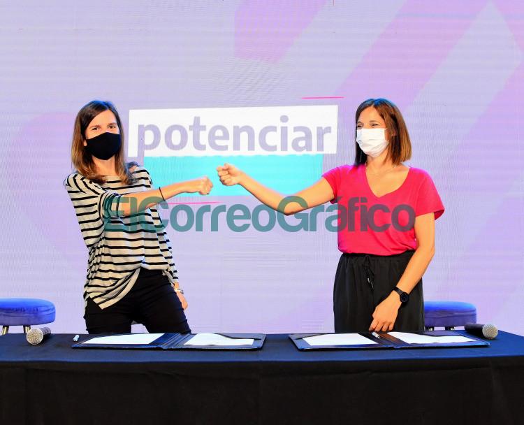 Fernada Raverta y Laura Alonso