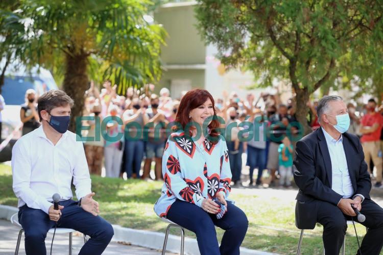 Kicillof y Cristina Kirchner pusieron en marcha un espacio para la Memoria en Las Flores 4