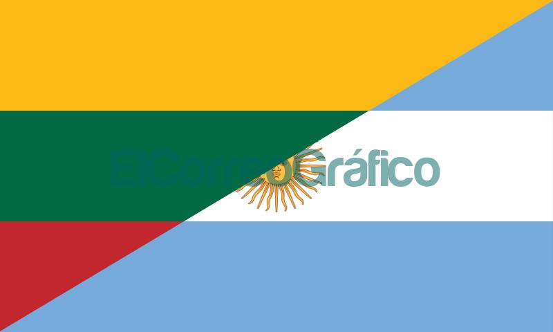 Bandera de Lituania y Argentina