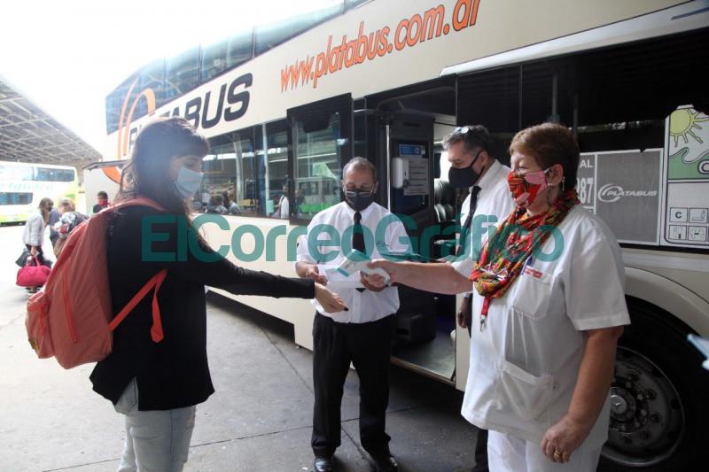 Intensifican los protocolos sanitarios en la Terminal de Omnibus 1