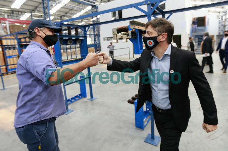 Kicillof Costa y Granados encabezaron la habilitacion del Parque Industrial de Ezeiza 1