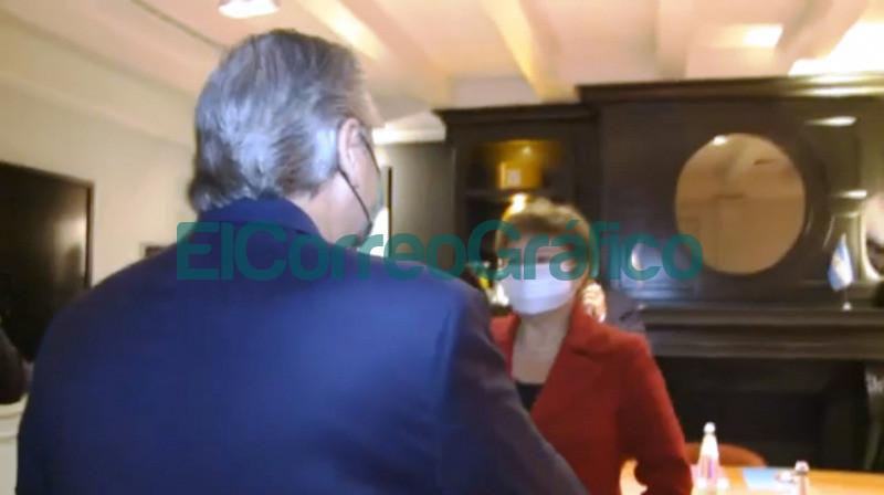 Fernandez con Kristalina Georgieva