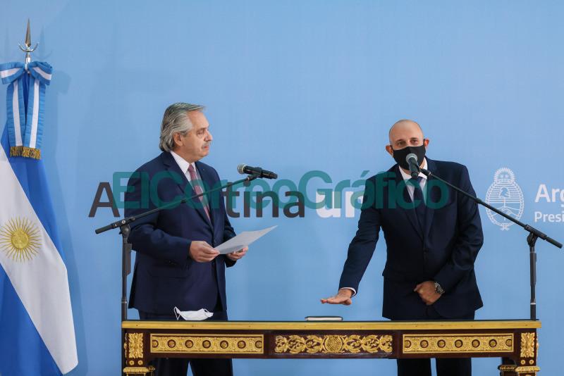 Fernandez puso en funcion a Alexis Guerrera como ministro de Transporte
