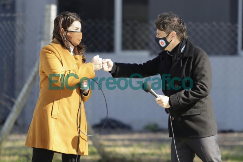Kicillof Costa y Mariel Fernandez habilitaron el Parque Industrial Moreno I 5