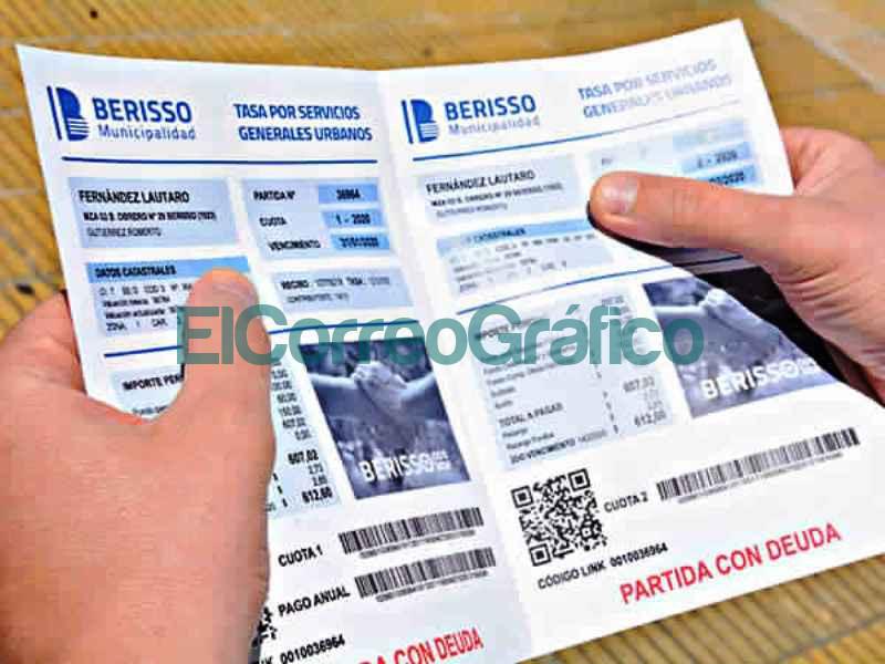 Ultimo llamado para pagar deudas de Tasas con quita de intereses y hasta 24 cuotas boleta municipal berisso