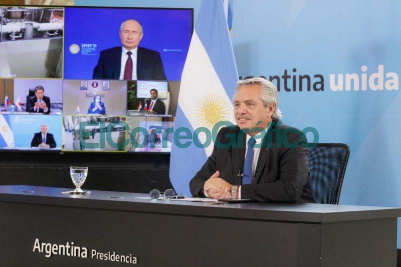 Alberto Fernandez y Vladimir Putin anunciaron el inicio de la produccion de la vacuna Sputnik V en Argentina 1