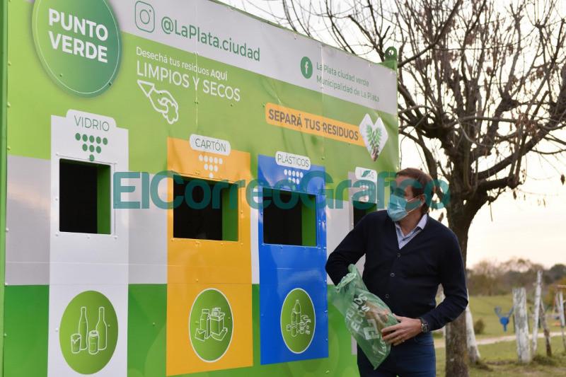 Garro inauguro un 'Punto Verde en Gorina y pidio seguir avanzando hacia una ciudad mas ecologica 1