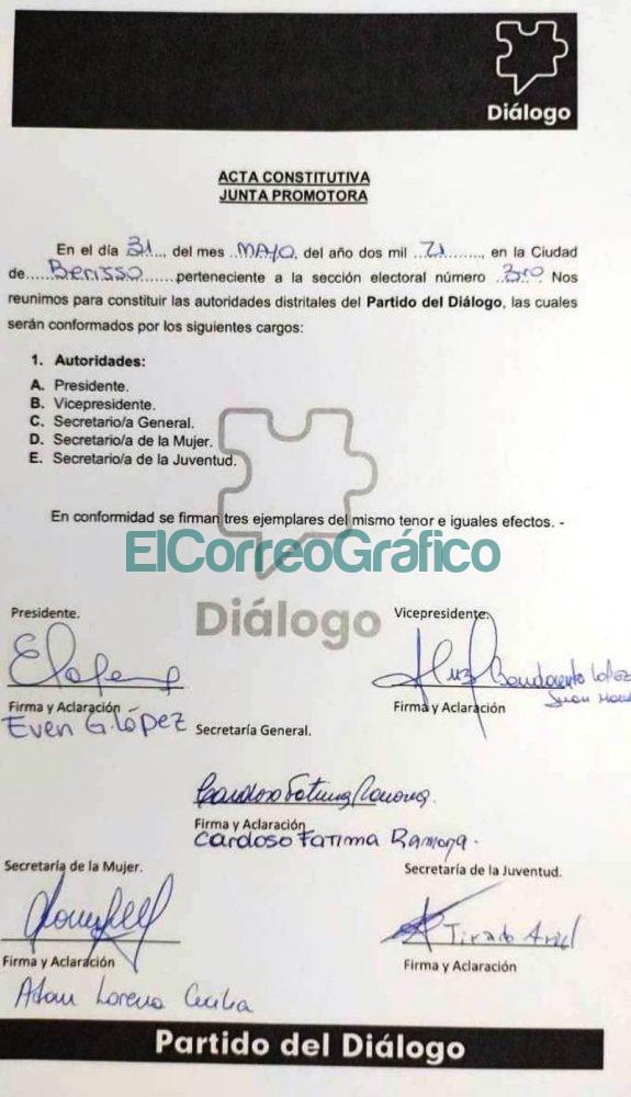 Junta Promotora Partido del Dialogo Berisso