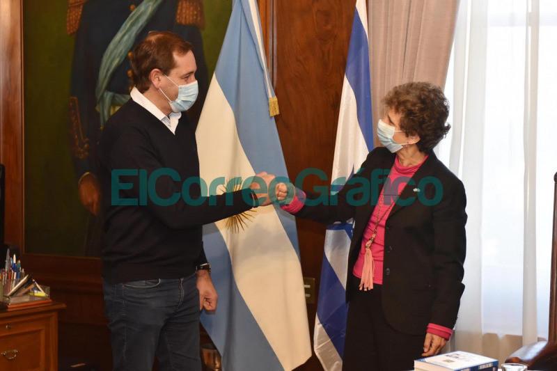 Garro con la Embajadora de Israel acuerdan cooperacion para promover inversiones 2
