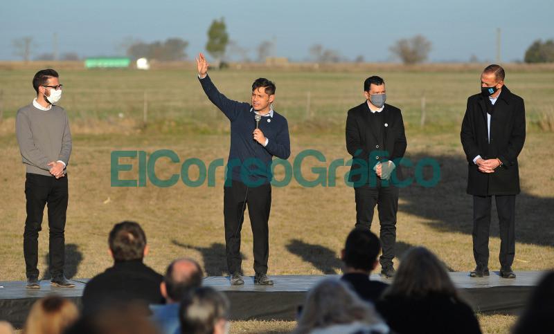 Kicillof anuncio el final de obra de pavimentacion de la Ruta del Cereal 05