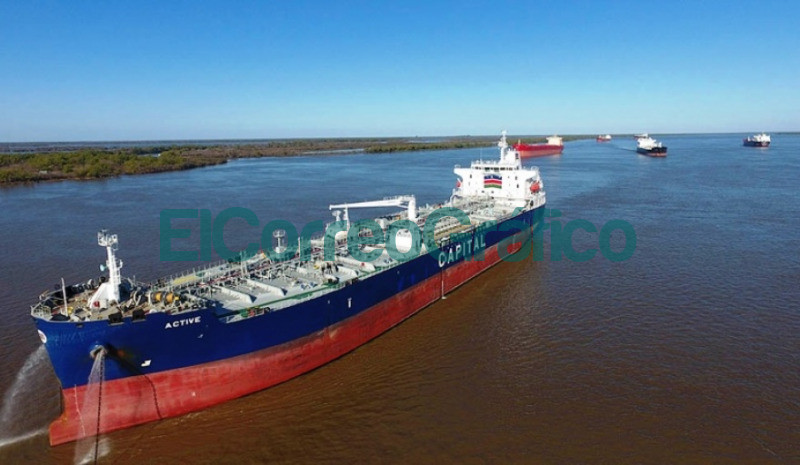 via navegable troncal Paraguay Parana